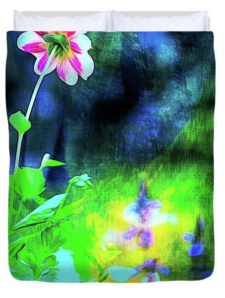 Underwater Garden Abstract Duvet Cover