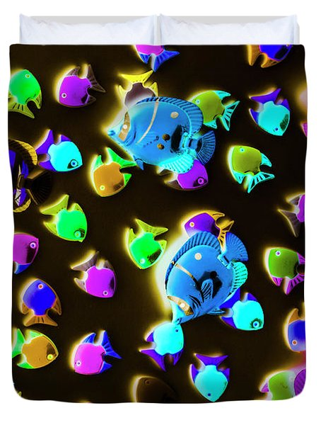 Underwater Glow Duvet Cover