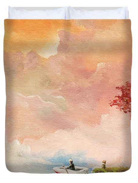 Duvet Cover featuring the painting Unfettered by James Andrews