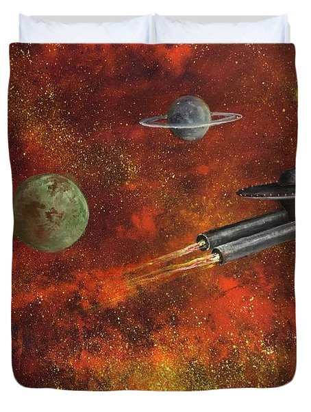 Unidentified Flying Object Duvet Cover