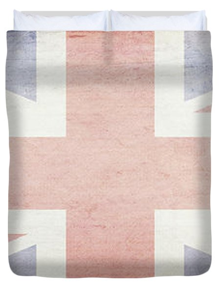 Union Jack Faded British Flag Design Duvet Cover