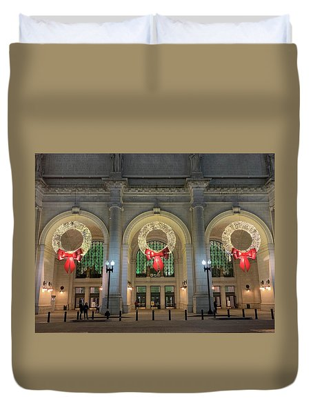 Union Station Holiday Duvet Cover