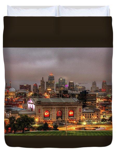 Union Station Sunrise 2 Kansas City Missouri Art  Duvet Cover