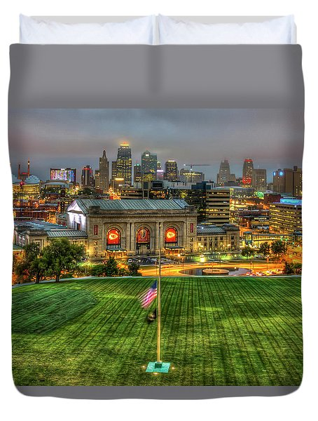 Union Station Sunrise Kansas City Missouri Art  Duvet Cover
