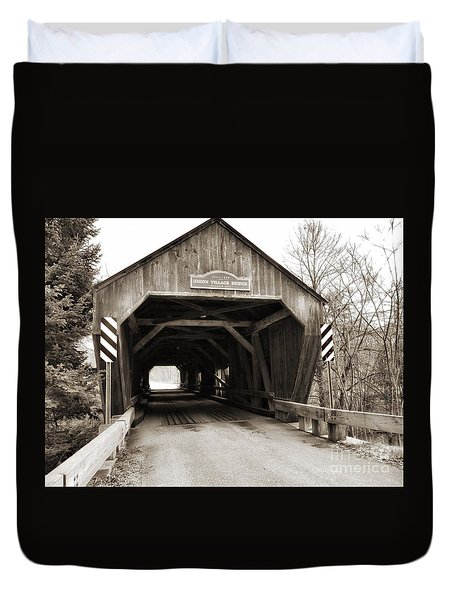 Union Village Covered Bridge Duvet Cover