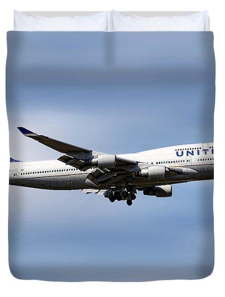United Airlines Boeing 747-422 Duvet Cover