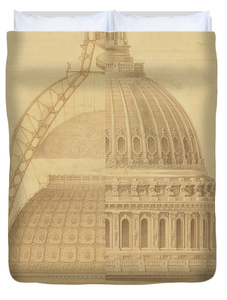 United States Capitol, Section Of Dome, 1855 Duvet Cover