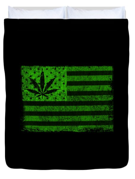 United States Of Cannabis Duvet Cover