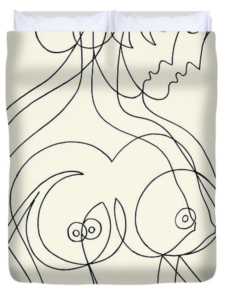 Untitled, Nude Woman Duvet Cover
