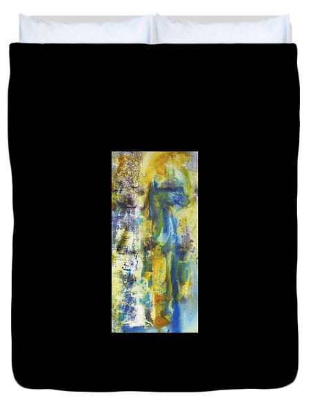 Duvet Cover featuring the painting Untitled3 by 'REA' Gallery