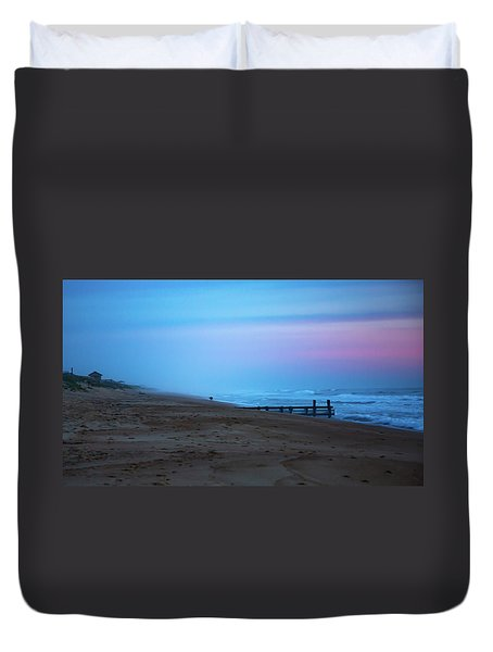 Duvet Cover featuring the photograph Up Before Sunrise by Lora J Wilson