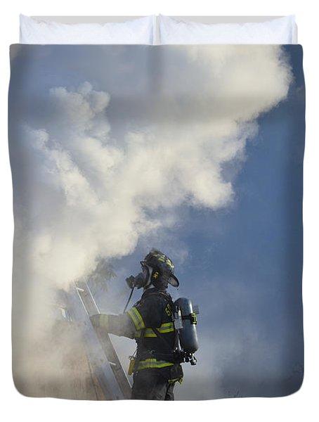 Up In Smoke Duvet Cover