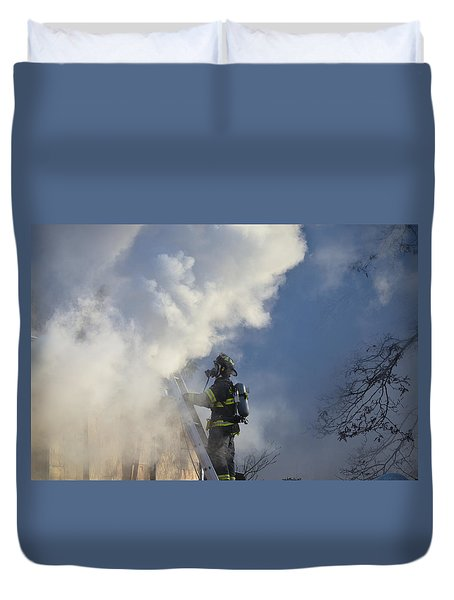 Up In Smoke Duvet Cover