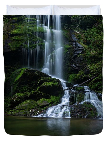 Upper Catawba Falls, North Carolina Duvet Cover