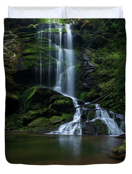 Upper Catawba Falls, North Carolina Duvet Cover