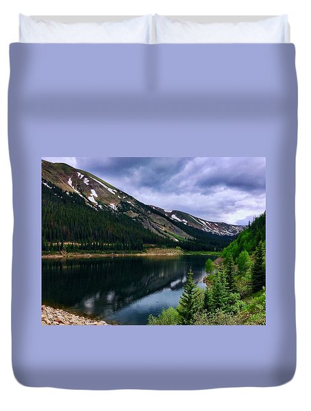 Duvet Cover featuring the photograph Urad Lake by Dan Miller