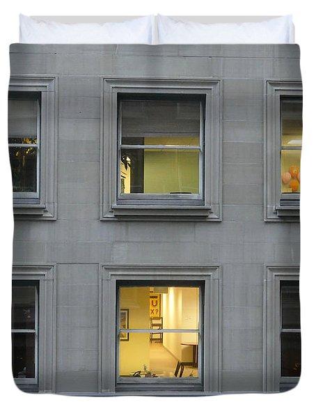 Urban Windows Duvet Cover