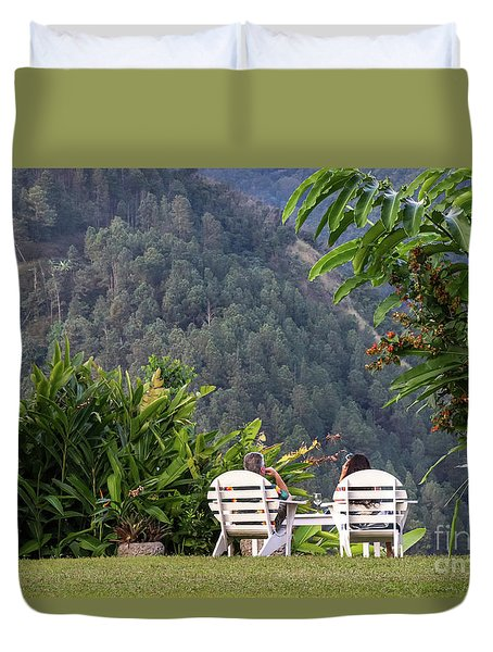 Vacation On Strawberry Hill Duvet Cover