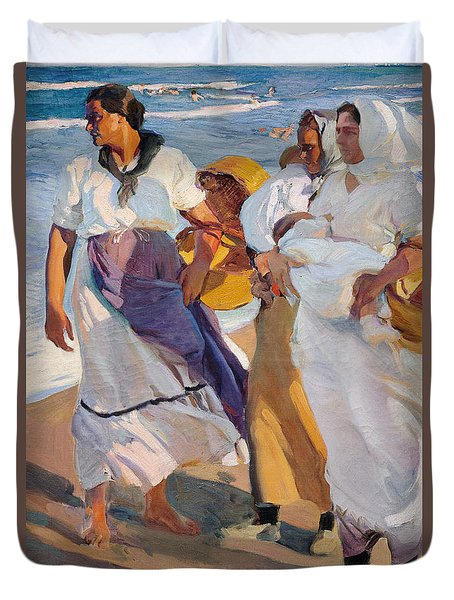 Valencian Fisherwomen, 1915 Duvet Cover