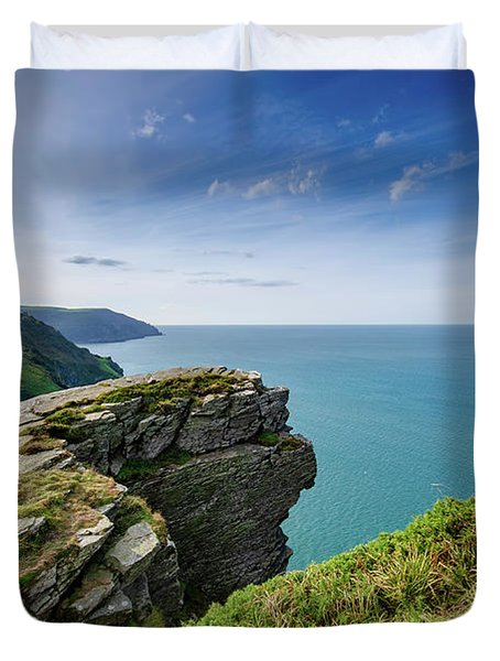 Valley Of The Rocks Views Duvet Cover