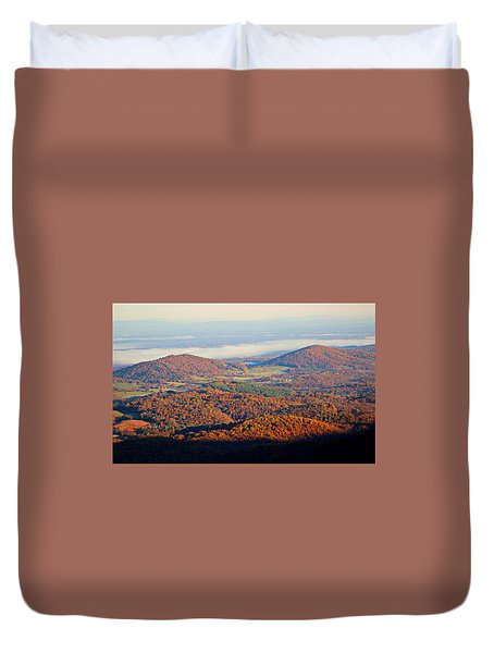 Duvet Cover featuring the photograph Valley View by Candice Trimble