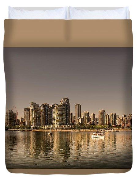 Vancouver Golden Light Hour Duvet Cover