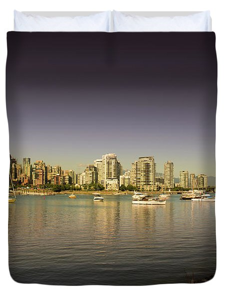 Vancouver In Magical Hours Duvet Cover
