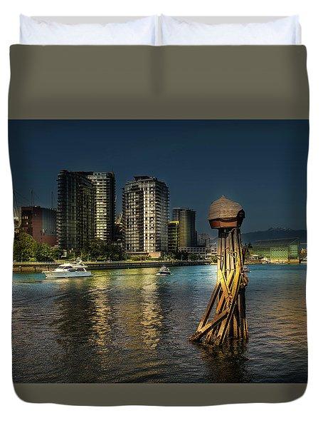 Vancouver Sunset Duvet Cover