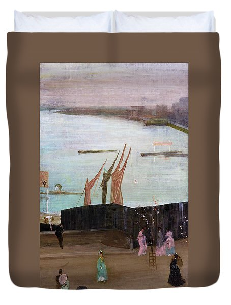 Variations In Pink And Grey, Chelsea - Digital Remastered Edition Duvet Cover
