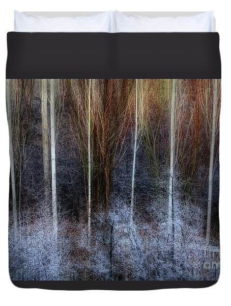 Veins Of Forest Duvet Cover