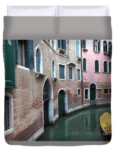 Venetian Streets -canals. Carlo Galdoni Museum Duvet Cover