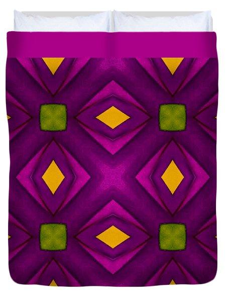 Vibrant Geometric Design Duvet Cover