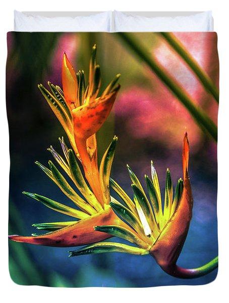 Vibrant Jungle Bird Duvet Cover