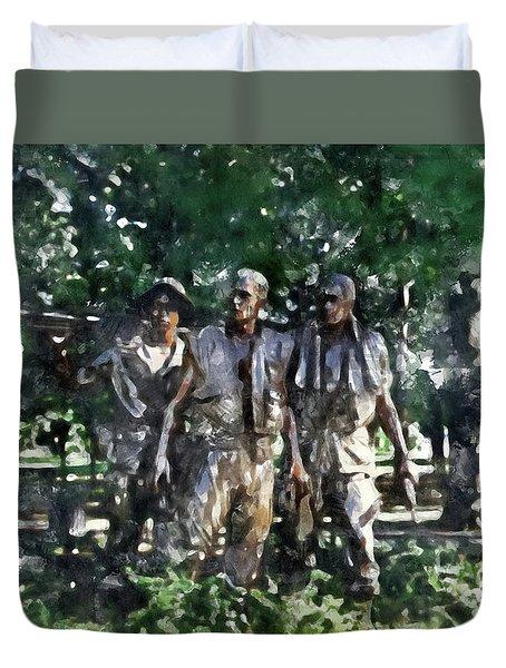 Vietnam Veteran Memorial Duvet Cover