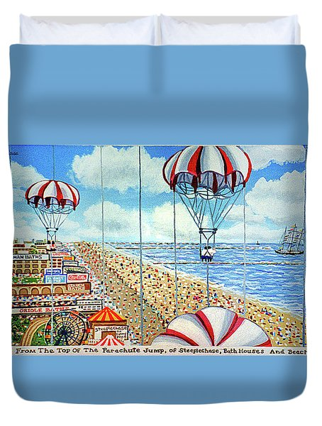 View From Parachute Jump Towel Version Duvet Cover