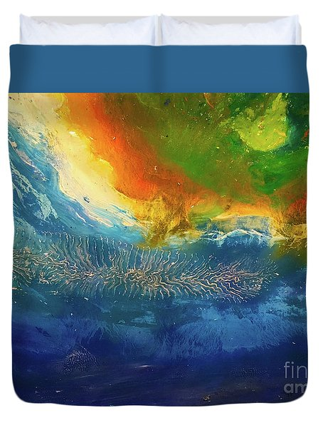 View From Space Duvet Cover