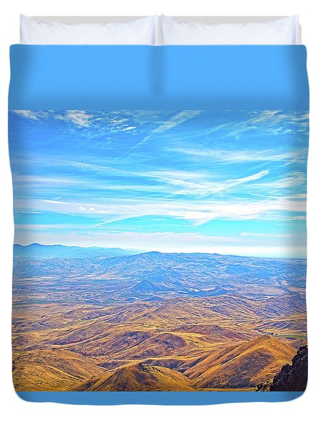 Duvet Cover featuring the photograph View From Squaw Butte, Id by Dart and Suze Humeston