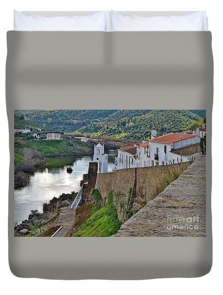 View From The Medieval Castle Duvet Cover