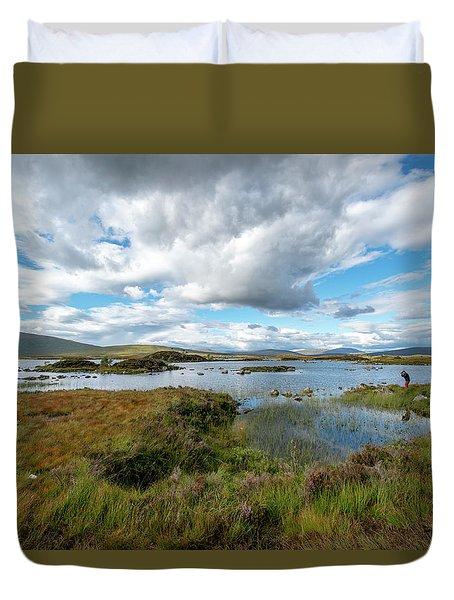 View In Glencoe, Scotland Duvet Cover