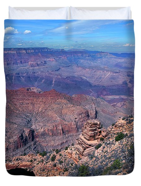 View Of Grand Canyon South Rim Duvet Cover