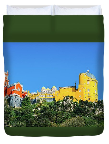 View Of Pena National Palace, Sintra, Portugal, Europe Duvet Cover
