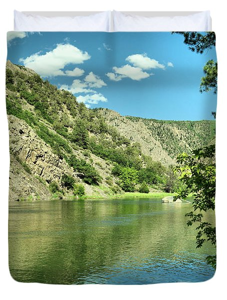 View Of The Gunnison River  Duvet Cover
