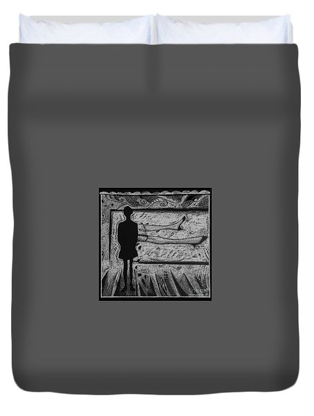 Viewing Supine Woman. Duvet Cover