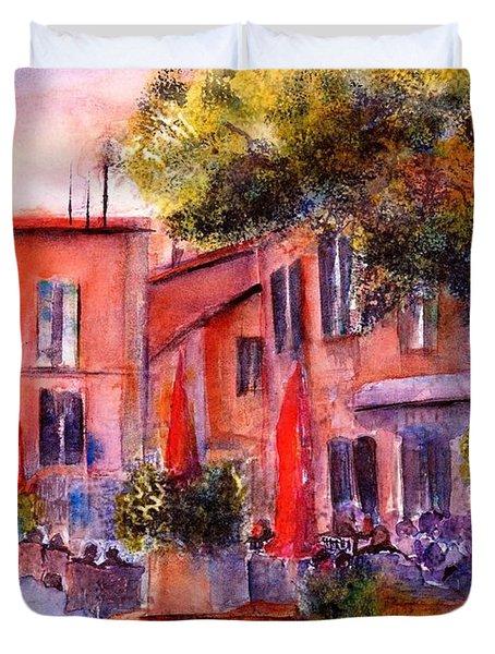 Village Roussillon Provence France Duvet Cover