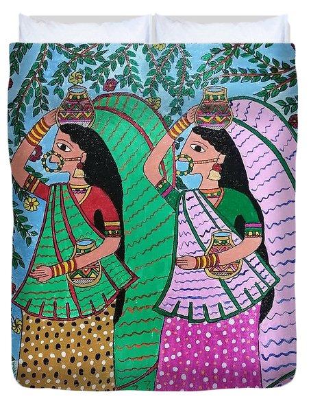 Village Women  Duvet Cover
