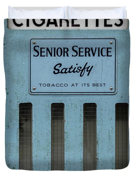 Senior Service Vintage Cigarette Vending Machine Duvet Cover
