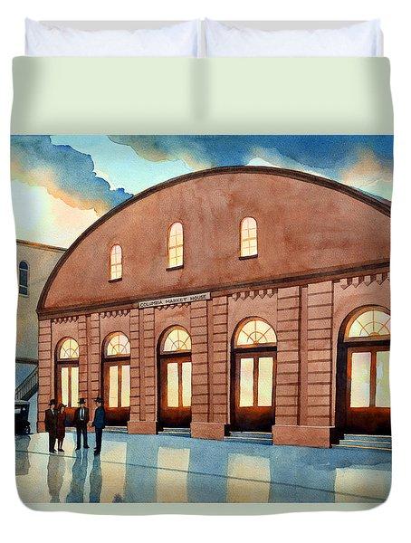 Vintage Color Columbia Market House Duvet Cover