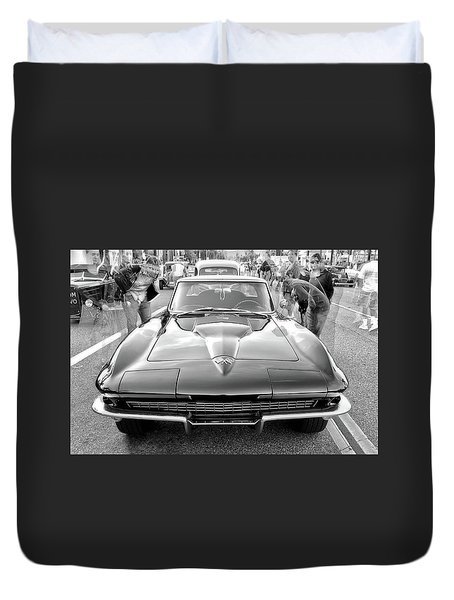 Vintage Corvette Duvet Cover