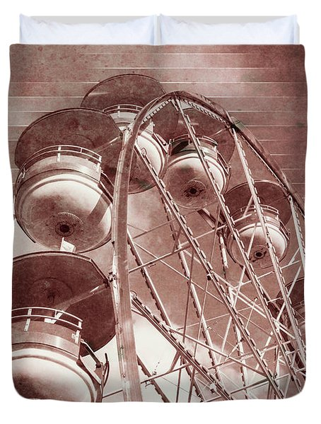 Vintage Ferris Wheel Duvet Cover