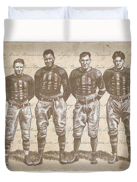 Vintage Football Heroes Duvet Cover